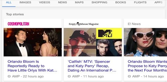 AMP search results