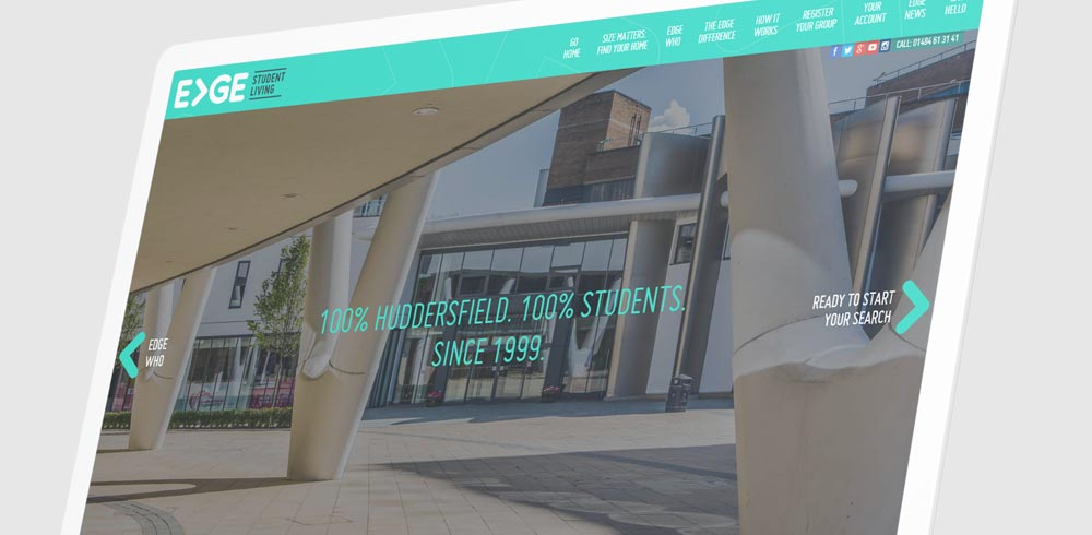 Edge student living - mobile-first web design