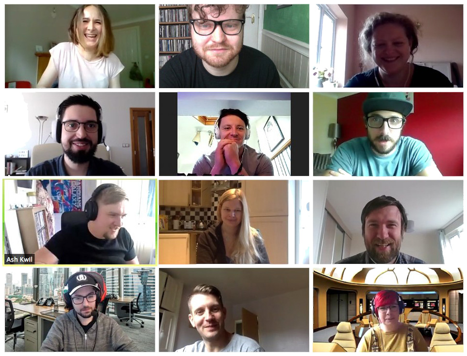A zoom meeting between a web development agency.